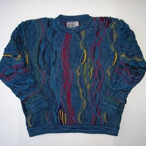 Authentic COOGI Sweater Mens M Heavy Cotton Colors